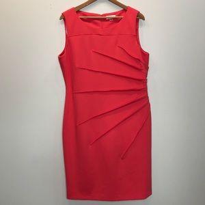 Calvin Klein Coral Sunburst Plus Size Dress 16